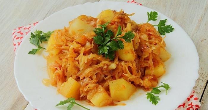 сытное блюдо с овощами и специями