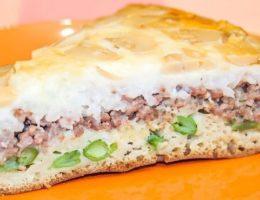 аппетитный заливной пирог с мясом